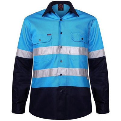 RITEMATE MENS TWO-TONE O/F L/S 3M TAPE - Claude Cater Mensland Mareeba