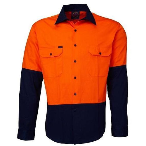 RITEMATE TWO-TONE O/F L/S SHIRT - Claude Cater Mensland Mareeba
