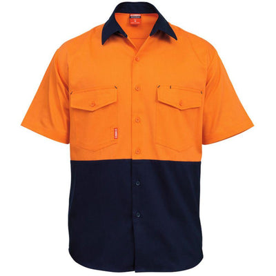 STUBBIES S/S SPLICED DRILL SHIRT - Claude Cater Mensland Mareeba