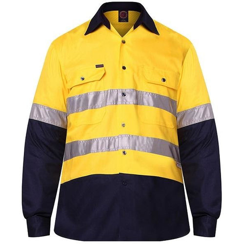 RITEMATE VENTED LIGHT WEIGHT O/F L/S 3M TAPE SHIRT - Claude Cater Mensland Mareeba