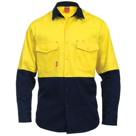 STUBBIES L/S SPLICED DRILL SHIRT - Claude Cater Mensland Mareeba