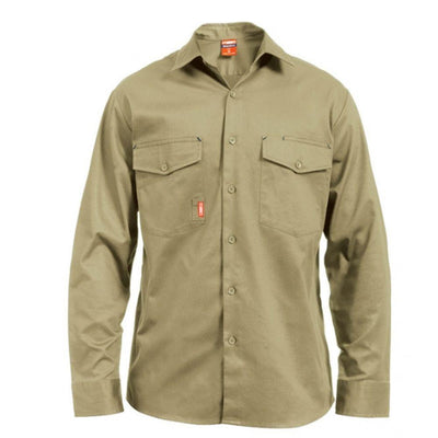STUBBIES L/S O/F DRILL SHIRT - Claude Cater Mensland Mareeba