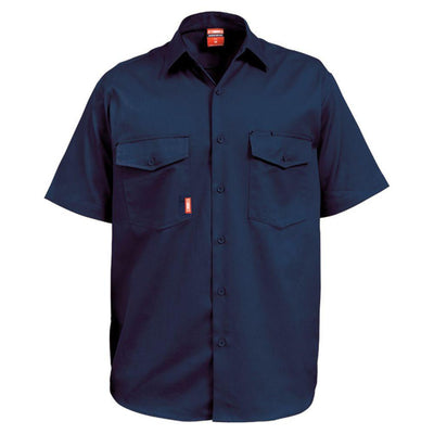 STUBBIES S/S O/F DRILL SHIRT - Claude Cater Mensland Mareeba