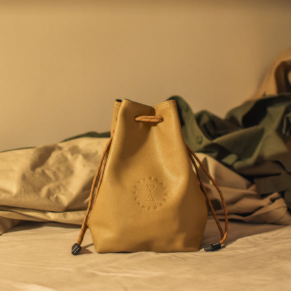 ASH: Drawstring Pouch in Camel