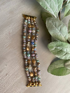 Spring Beaded Watch Band