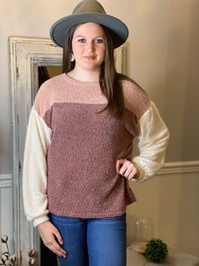 Blush Color Block Sweater