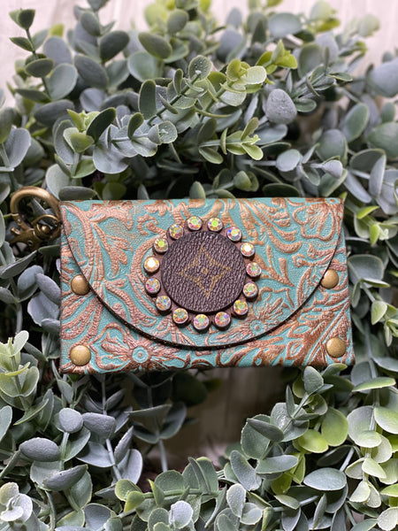 Turquoise Coleen Card Holder