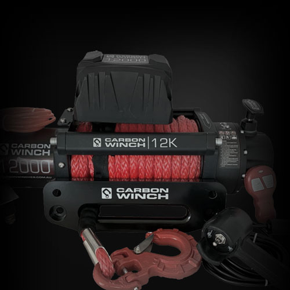 Carbon Winches | Synthetic Rope | 12K | 9.5K | 4x4 | Stage 1 Customs
