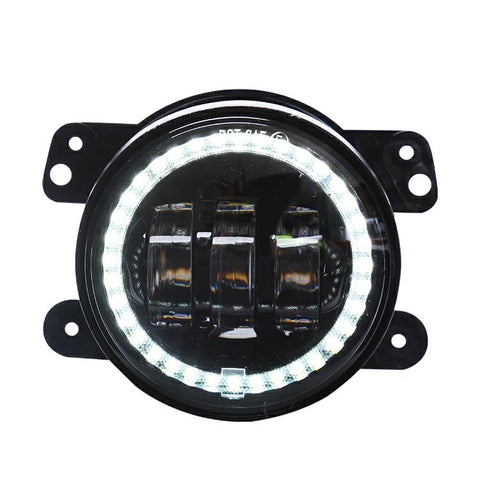 Jeep Wrangler JK (2007-2018) 4 inch Foglight with angel eyes.