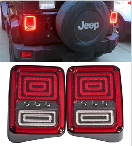 Jeep Wrangler JK 2007-2018 Clear LED Tail Light.