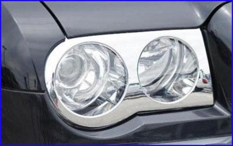 Chrysler 300c 2005-2010 Chrome Headlight Overlays (Pair)