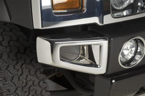 Hummer H2/H2 SUT 2003-2010 Chrome Front Bumper Covers (Pair)