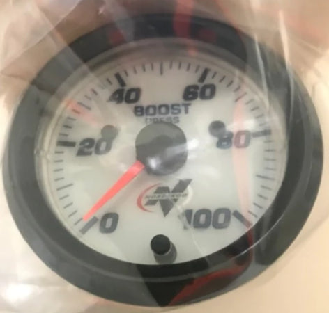 Nordskog Pro Analog Boost Gauge 100 PSI