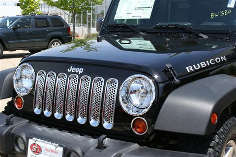 Jeep Wrangler JK 2007-2018 Chrome Grill Covers