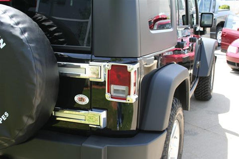 Jeep Wrangler JK 2007-2018 Chrome Tail Light Covers