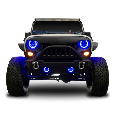 Jeep Wrangler JK LED Headlights & Fog with RGB Function
