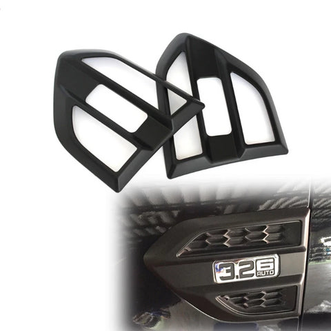 Ford Ranger 2015-2018 Mk2 Side Vent Cover Matte Black.