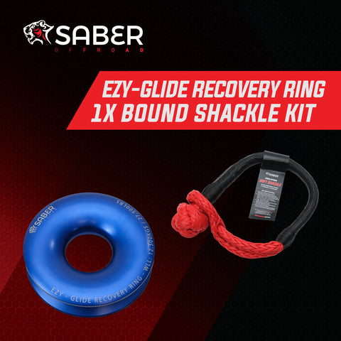 Saber Offroad Ezy-Glide Recovery Ring & 17K Bound Soft Shackle Kit