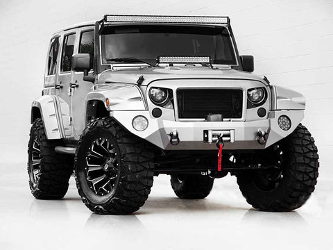 Jeep Wrangler | JK | Matte Black | Grille | Stage 1 Customs