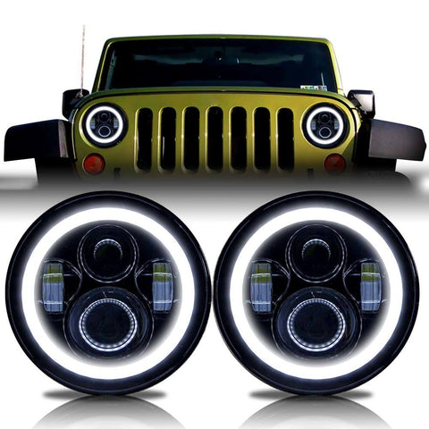 Jeep Wrangler JK (2007-2018) Halo LED Projector Headlights.