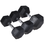HIT Fitness Hex Dumbbells | Rubber