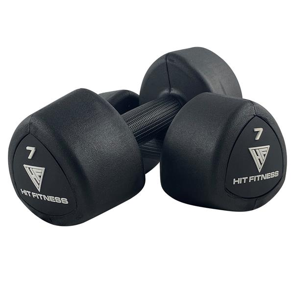 Hit Fitness Rubber Studio Dumbbell | 7kg