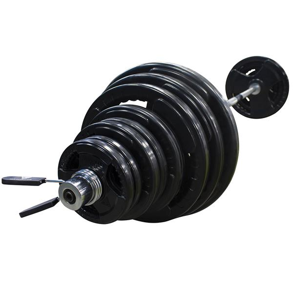 Hit Fitness 145kg Olympic Weight Set | with 7ft Bar