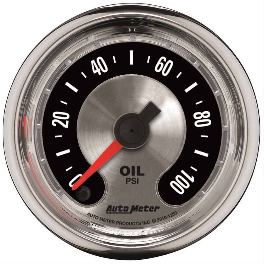 Autometer 1253 American Muscle Oil Pressure Gauge, 2-1/16 in.
