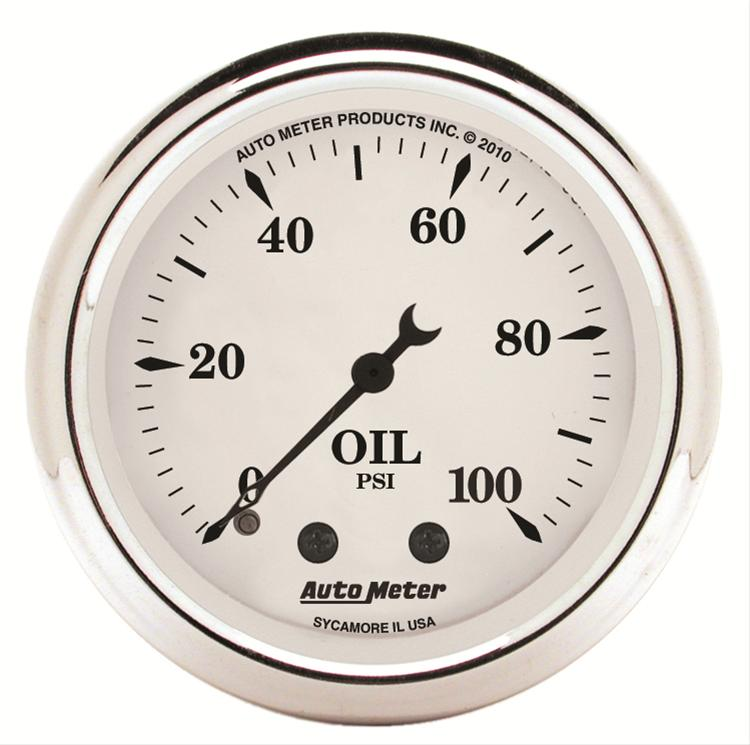 Autometer 1621 Old Tyme White, Oil pressure gauge 2-1/16 in.