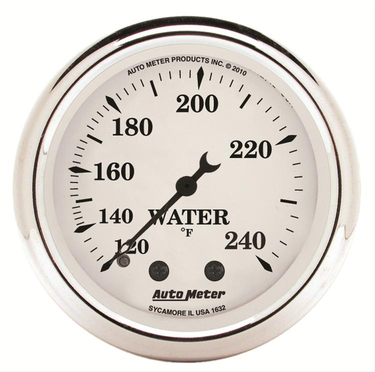 Autometer 1632 Old Tyme White, Water Temperature gauge 2-1/16 in.