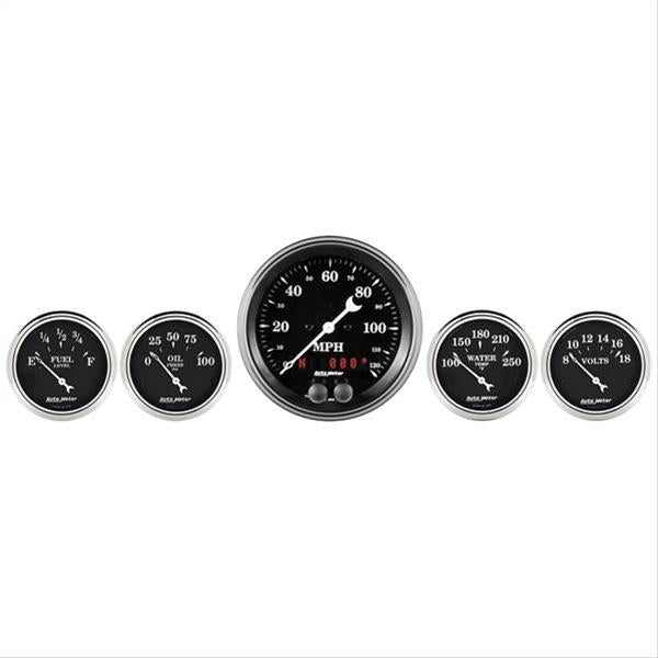 Autometer 1750 Old Tyme Black, Gauge Kit
