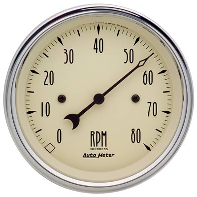 Autometer 1890 Antique Beige, Tachometer, 3-3/8 in.