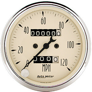Autometer 1896 Antique Beige, Speedometer, 3-1/8 in.