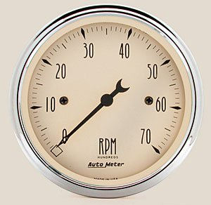 Autometer 1898 Antique Beige, Tachometer, 3-1/8 in.
