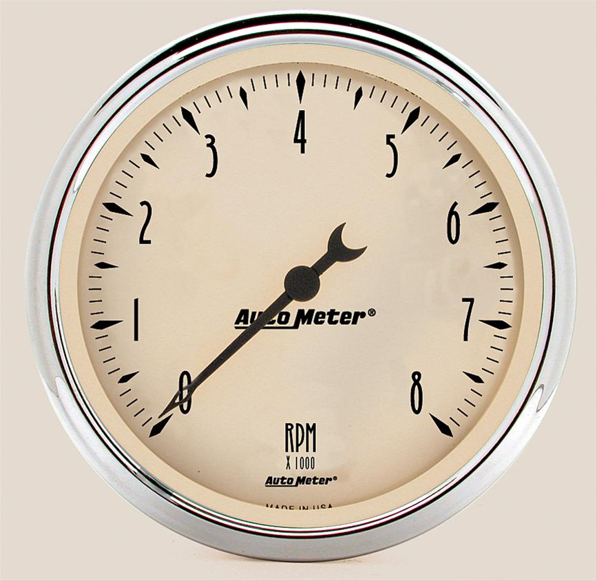 Autometer 1899 Antique Beige, Tachometer, 5 in.