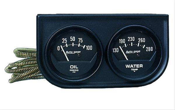 Autometer 2345 Autogage Console Water Temperature, Oil Pressure, 2-1/16 in.