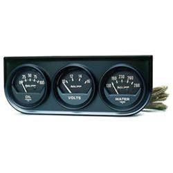Autometer 2348 Autogage Console Water Temperature, Oil Pressure, Voltmeter, 2-1/16 in.