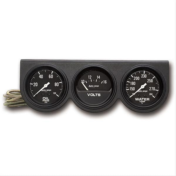 Autometer 2398 Autogage Console Water Temperature, Oil Pressure, Voltmeter, 2-5/8 in.