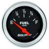 Autometer 2516 Traditional Chrome Fuel level gauge,  2-1/16 in., Electrical