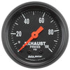 Autometer 2619 Z-Series Exhaust back pressure Gauge, 2-1/16 in., Mechanical