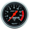 Autometer 3374 Sport-Comp Nitrous pressure Gauge 2-1/16 in., Electrical