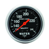 Autometer 3432 Sport-Comp Water Temp Gauge, 2-5/8 in., Mechanical