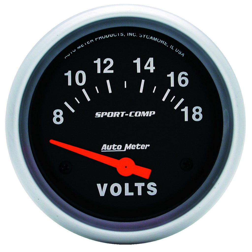Autometer 3592 Sport-Comp Voltmeter Gauge, 2-5/8 in., Electrical