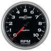 Autometer 3698 Sport-Comp II Tachometer Gauge, 5 in., Electrical