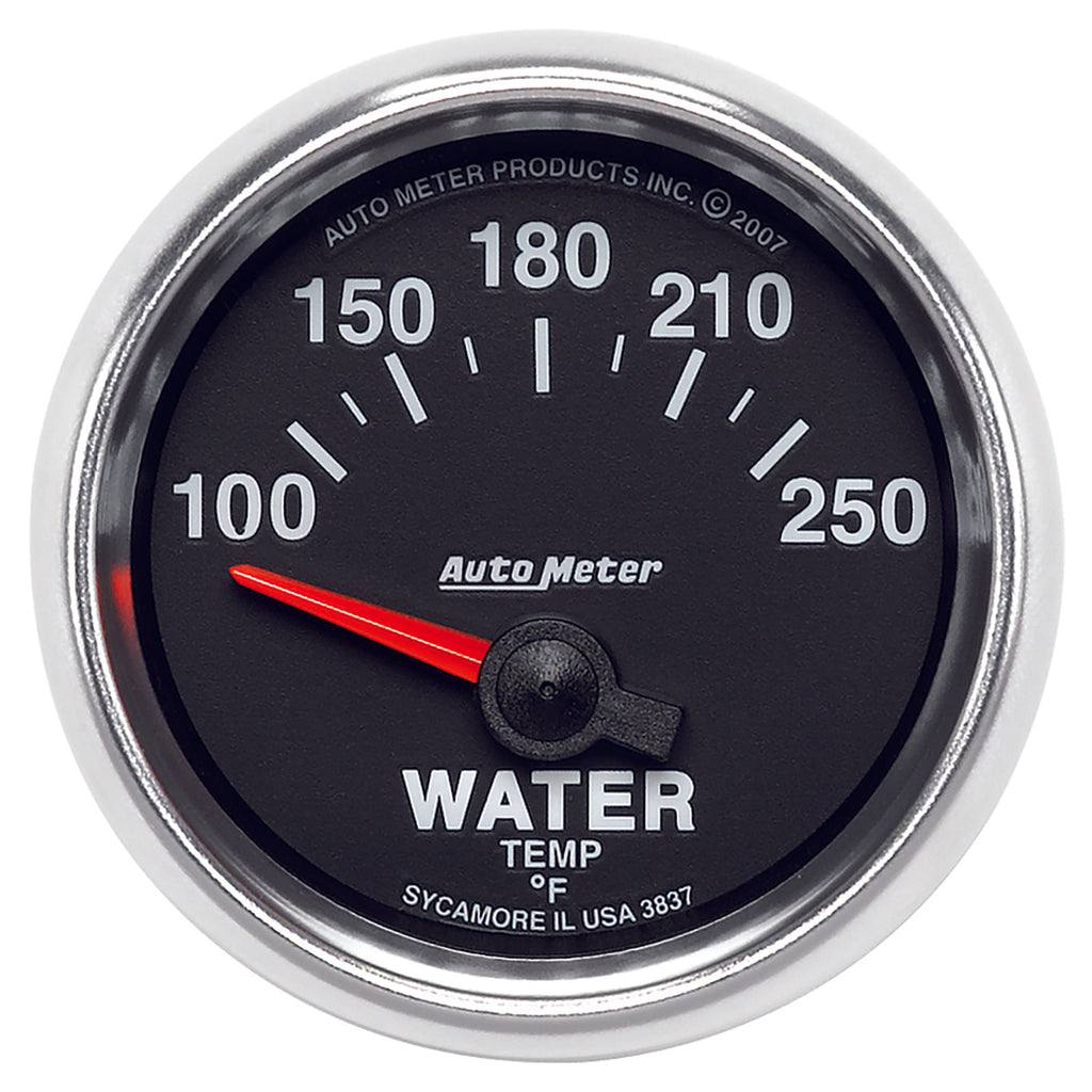 Autometer 3837 GS Series Water Temperature gauge, 2-1/16 in., Electrical
