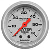 Autometer 4324 Ultra-Lite Water pressure Gauge 2-1/16 in., Mechanical