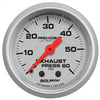 Autometer 4325 Ultra-Lite Exhaust back pressure Gauge  2-1/16 in., Mechanical