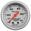 Autometer 4326 Ultra-Lite Exhaust back pressure Gauge 2-1/16 in., Mechanical