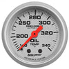 Autometer 4346 Ultra-Lite Oil Tank Temperature Gauge 2-1/16 in., Mechanical