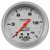 Autometer 4411 Ultra-Lite Fuel pressure Gauge 2-5/8 in., Mechanical